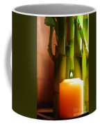 Meditation Candle And Bamboo Coffee Mug by Olivier Le Queinec