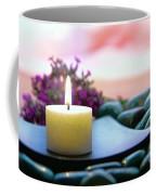Meditation Candle Coffee Mug by Olivier Le Queinec
