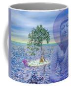 Meditation On Buddha Blue Coffee Mug by Dominique Amendola