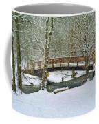 Meeks Park Bridge In Snow Coffee Mug