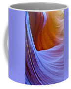 Meeting Of The Curves In Lower Antelope Canyon In Lake Powell Navajo Tribal Park-arizona  Coffee Mug