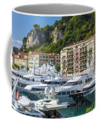 Mega Yachts In Port Of Nice France Coffee Mug