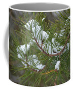 Melting Snow In The Pines Coffee Mug