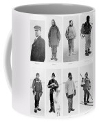 Members Of The British Antarctic Expedition At The Start Of The Journey Coffee Mug