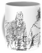 Men At The Cafe Coffee Mug