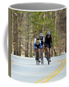 Men In A Bike Race Coffee Mug by Susan Leggett