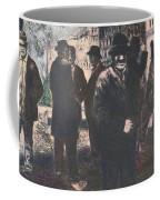 Men In Yellow Light Coffee Mug