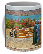Men On Philae Island In Aswan-egypt  Coffee Mug