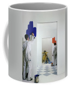 Men Painting Walls Coffee Mug