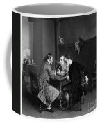 Men Smoking Coffee Mug