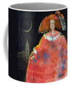 Menina And Cathedral Oil & Acrylic On Canvas Coffee Mug