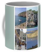 Menorca Collage 02 - Labelled Coffee Mug