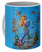 Mermaid And Seahorse Morning Swim Coffee Mug