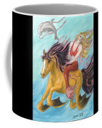 Mermaid Sea Horse Dolphin Fantasy Cathy Peek Coffee Mug