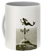 Mermaid Weathervane In Sepia Coffee Mug