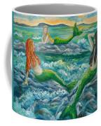 Mermaids On The Rocks Coffee Mug