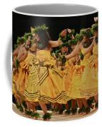 Merrie Monarch Hula Dancers In Yellow Dresses Coffee Mug
