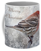 Merry Christman Finch Greeting Card Coffee Mug