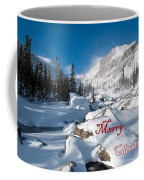 Merry Christmas Snowy Mountain Scene Coffee Mug