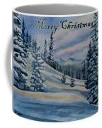 Merry Christmas - Winter Landscape Coffee Mug