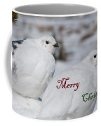 Merry Christmas - Winter Ptarmigan Coffee Mug