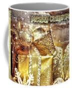 Merry Christmas Gold Coffee Mug by Mo T
