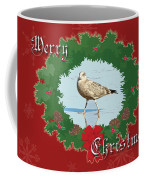 Merry Christmas Greeting Card - Young Seagull Coffee Mug