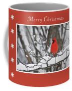 Merry Christmas Male Cardinal Coffee Mug