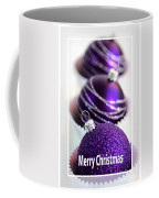 Merry Christmas Purple Baubles Coffee Mug