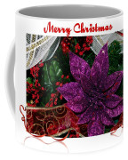 Merry Christmas Red Ribbon Coffee Mug