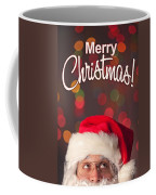 Merry Christmas Santa Card Coffee Mug
