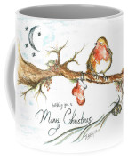 Merry Christmas Robin Coffee Mug