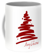 Merry Christmas Tree - Red Coffee Mug