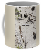 Message In The Sand Coffee Mug by Benanne Stiens