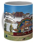 Message Of Joy From Potala Palace In Lhasa-tibet  Coffee Mug