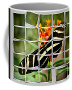 Messed Up Butterfly Coffee Mug by Jean Noren