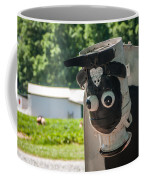 Metal Cow On Farm Coffee Mug