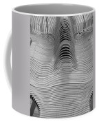 Metal Strips In Balck And White Coffee Mug