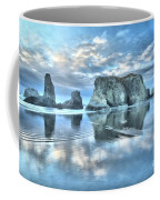 Metallic Cloud Reflections Coffee Mug