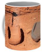 Metates At Wupatki Pueblo In Wupatki National Monument Coffee Mug