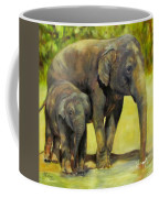 Thirsty, Methai And Baylor, Elephants  Coffee Mug