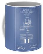 Method Of Drilling Wells Patent From 1906 - Light Blue Coffee Mug