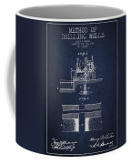 Method Of Drilling Wells Patent From 1906 - Navy Blue Coffee Mug