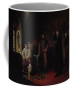 Metropolitan Philip Of Moscow 1507-90 With Tsar Ivan The Terrible 1530-84 Oil On Canvas Coffee Mug