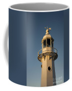 Mevagissey Lighthouse In The Evening Coffee Mug