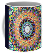 Mexican Ceramic Kaleidoscope Coffee Mug