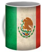 Mexico Flag Vintage Distressed Finish Coffee Mug