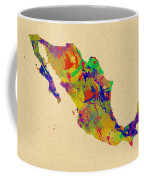 Mexico Map Watercolor Coffee Mug