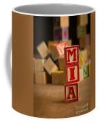Mia - Alphabet Blocks Coffee Mug