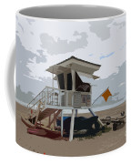 Miami Beach Lifeguard Station II Abstract Coffee Mug